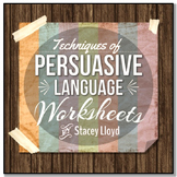 Techniques of Persuasive Language: Practice Worksheets