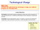 Technological Change & Technical Progress - Invention & In