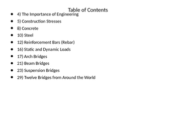 Technologies: Construction Materials & Bridges