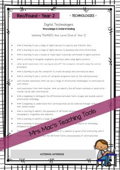 Technologies - Australian Curriculum - Report Writing - Foundation - Year 7