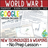 World War 1 Weapons, World War I, WW1, WWI