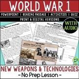 World War 1 Weapons, World War I, WW1, WWI