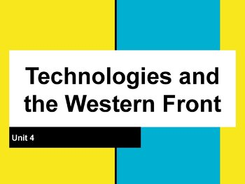 Technologies and Fronts Guided Notes