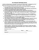 Technology Agreement w/ Sign-Out Sheet