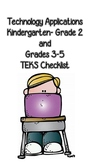 Technology Applications TEKS Checklist (Kindergarten- 5th Grade)