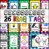 Technology Brag Tags 26 Brag Tags and Card Meaning Classroom Poster