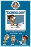 Technology Cartoon Clipart for all grades