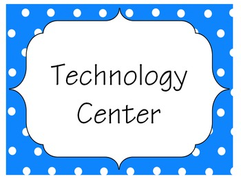 Technology Center Signs By: Digital Lit Corner