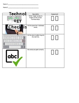 Technology Checklist for homerow keys