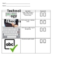 Technology Checklist for homerow keys