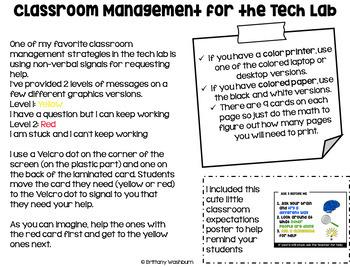 Technology Classroom Management System Freebie