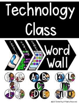 Technology Classroom Word Wall