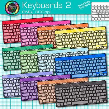 Technology Clip Art Bundle {Rainbow Laptop, Desktop Computer, iPad & Keyboard} 2