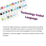 Technology Coded Language - Christmas Activity