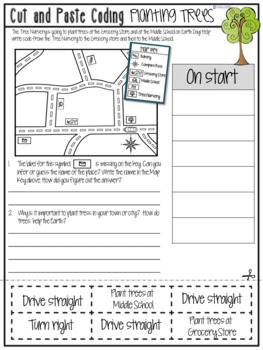 Cut & Paste-Coding with Map Skills and Graph Skills 3.MD.B.3
