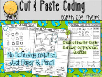 Cut & Paste - Computer Coding with Map Skills and Graph Sk
