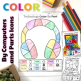 Technology Color By Computers and Parts Printable Worksheets