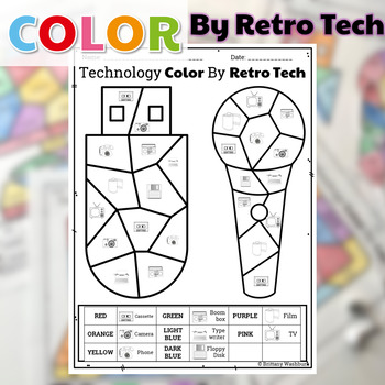 graphic relating to Printable Technology identify UNPLUGGED Technological know-how Coloration As a result of Retro Tech Printables