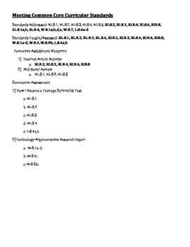 Technology, Common Core, ELA, 8th Grade