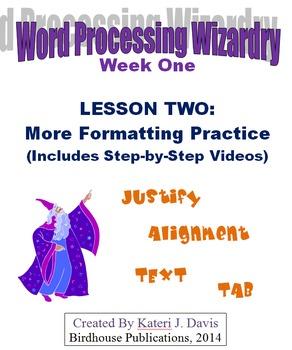 Technology & Computer Basics:  WP - More Formatting Practice