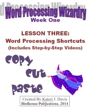 Technology & Computer Basics:  WP - Word Processing Shortcuts