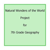 Technology: Create a Natural Wonders of the World Presentation