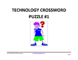 Technology Crossword Puzzle #1 (STEM Activity)