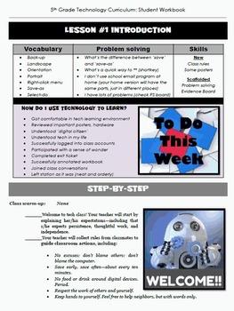 Technology Curriculum Student Workbook 6th ed: Grade 5