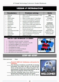 Technology Curriculum: Student Workbook 6th Ed.--Grade 6