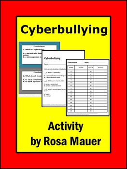 Cyberbullying Task Cards