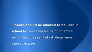 Technology Debate Prompts Powerpoint (PPT)
