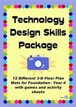Technology Design Skills Bundle Package - Room Floor Mats & Activities