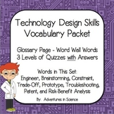Technology Design Skills Vocabulary Packet