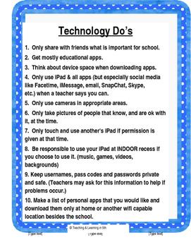 Technology Do's & Don'ts