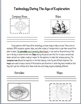 age of exploration worksheets resultinfos. Black Bedroom Furniture Sets. Home Design Ideas