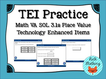 Technology Enhanced Item Practice: Math SOL 3.1a Place Value