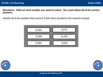 Technology Enhanced Item Practice: Math SOL 3.1b Rounding
