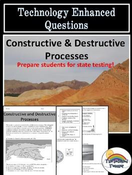 Technology Enhanced Items TEI Constructive Destructive Processes Test Review