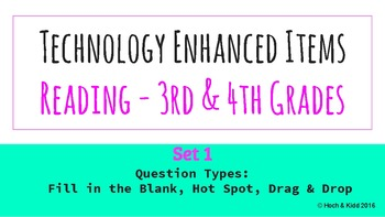 Technology Enhanced Items for Reading - 3rd & 4th Grade - Set 1