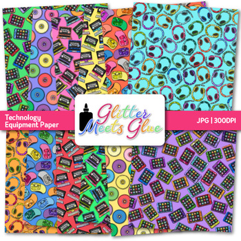 Technology Paper {Scrapbook Backgrounds for Task Cards & Brag Tags}