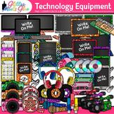 Technology Clip Art Pack {iPad, Laptop Computer, Headphone, Cell Phone}