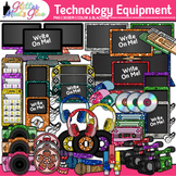 Technology Clip Art Pack | iPad, Laptop Computer, Headphone, Cell Phone