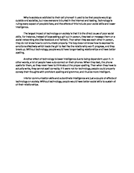 Technology Essay Typed