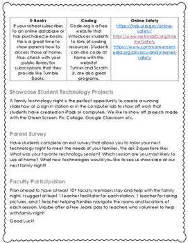 Technology Family Night Packet