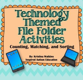 Technology File Folder Bundle Autism Resource