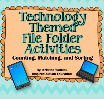 Technology File Folder Bundle Autism Resource