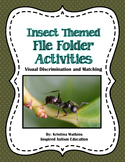 Insect Themed File Folder Activities Autism Resource