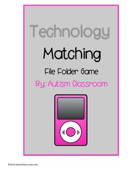 Technology Color Matching File Folder Game (Autism & Special Education)