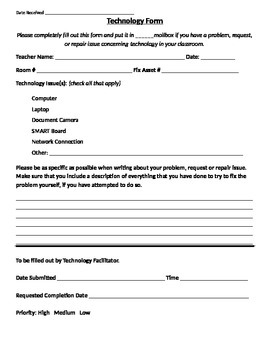 Technology Forms
