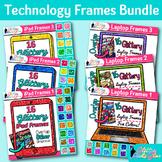 Technology Frames Clip Art Bundle: iPad and Laptop Borders